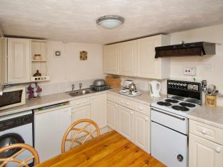 THE FITTED KITCHEN IN SWALLOW COTTAGE.