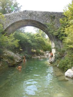 Children enjoying the river in the heat of summer a few minutes drive from the Gite