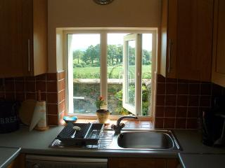 Lovely countryside views from Kitchen Window which overlooks the private patio
