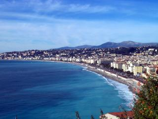The Mediterranean :Baie des Anges and Promenade des Anglais