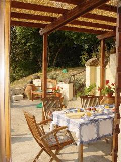 The dining terrace