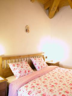 The rooms are simply furnished, all with exposed beams and a private bathroom