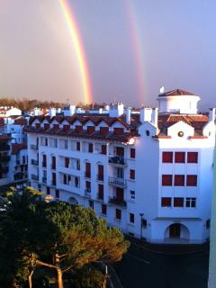Fabulous sky views ~ double rainbow!