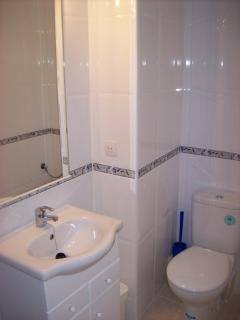 refurbished new bathroom complete with full size bath and shower