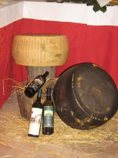Parmigiano Reggiano and Lambrusco are local products
