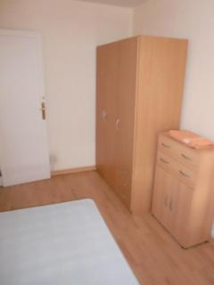 Dormitorio 1, Opcion individual, visto desde la cabecera de la cama
