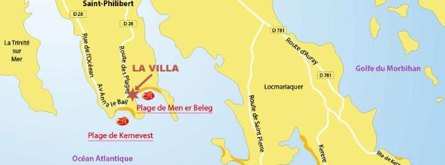 Sa Localisation, La Trinité sur Mer / Plages de Saint Philibert