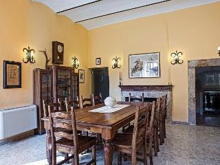 spazioso e incantevole salone con grande tavolo in legno massello centrale ( 10 posti a sedere)
