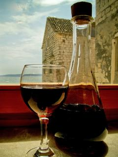 The local wines are famous.... why not gaze out at the ceorlean blue Adriatic and just relax