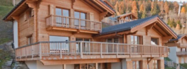 Panoramic of Chalet in Summer