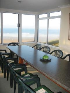 Dining area in sunroom