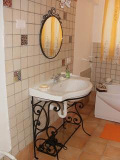 including the bathroom sink....