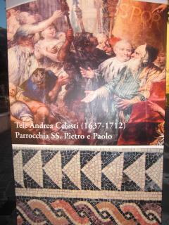 Famous Toscolano's oil paints & mosaics of the nearby Roman Villa (1st century p.C.n.)