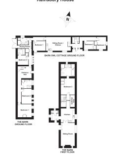 Floor Plan for The Barn and Barn Owl Cottage