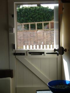View from the sitting area through Stable Front Door