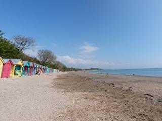 Llanbedrog Beach - a mile long sandy beach with a cafe and huts. 750 meters from the cottage