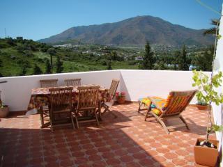 Huge terrace with panoramic mountain views