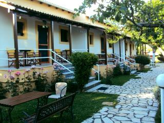 Frontside View and balconies- Skafonas Apartments, Pelekas | Corfu | Greece