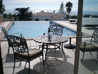 Wonderful pool and sea views from the Dining Room!