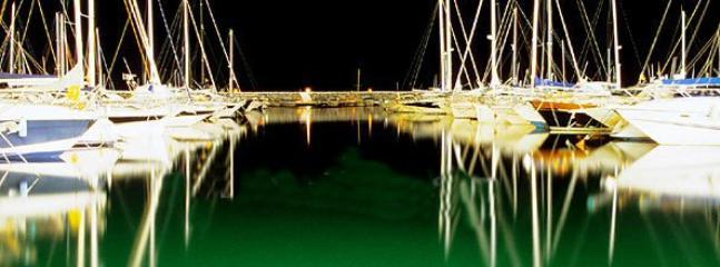 Puerto Banus marina by night