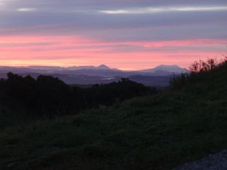 Sunrise over Tongariro National Park.