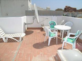 Large Roof Terrace with table & chaits, sun beds.