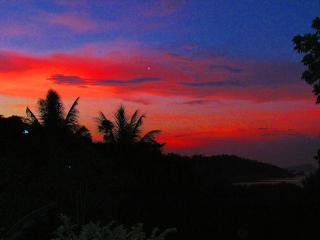 This was an especially fiery sunset, but we enjoy beautiful sunsets from our terrace most nights