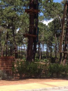 Aventura Amazonia zipwire park opposite the Pino Golf apartments