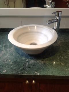 Sink unit in shower room