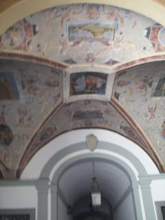The Atrium in the Palazzo with XVIII sec frescoes