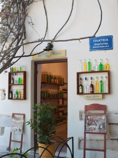 local products sold in the village of Apiranthos