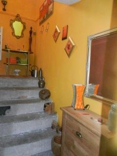 Escalier accèdant aux chambres