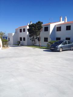 zona de parking del complejo