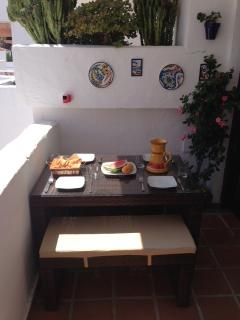 Alfresco dining on the terrace