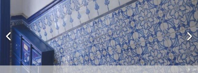 Hall of the building with portuguese tiles!