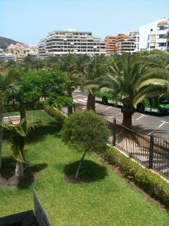 View from the balcony adjoining the sitting-room where you can eat &/or enjoy your afternoon siesta.