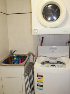 Washer and dryer provided inside apt. Detergents supplied