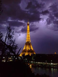 Thunder in the sky.