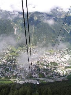 Chamonix from Aiguille du Midi