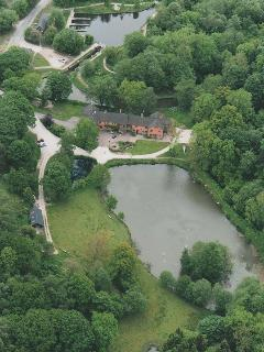 aerial view of Foxtwood Cottages