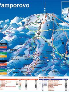 Pamporovo Piste map