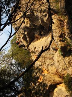 climbing-wall nearby