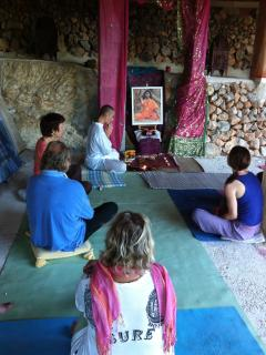 Meditation and pujas in the yoga-hall available