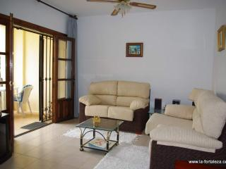 Spacious lounge has Satellite TV and DVD