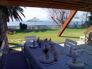Waterfront Villa Eretria with private beach