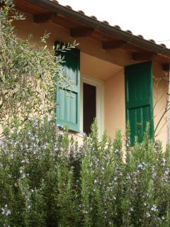 Typical Italian style country house in natural stone. the house is very cool in summer.