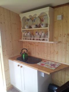 A well equipped galley kitchen for that vital early morning cuppa!