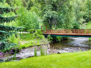 Dog-friendly condo, walk to ski lifts, shared pool and hot tub access!, Ketchum