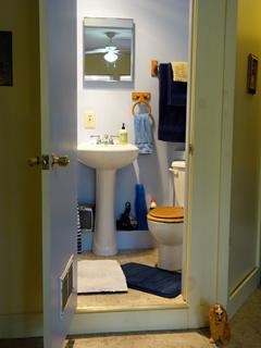 Le bathroom bleu again!
