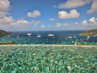 A stunning photo taken from inside the Infinity Pool